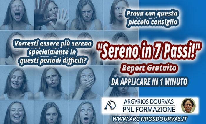 """Riduci ANSIA e STRESS – Report gratuito """"Sereno in 7 Passi!"""""""